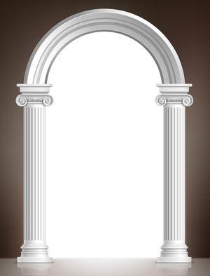 Realistic white arch