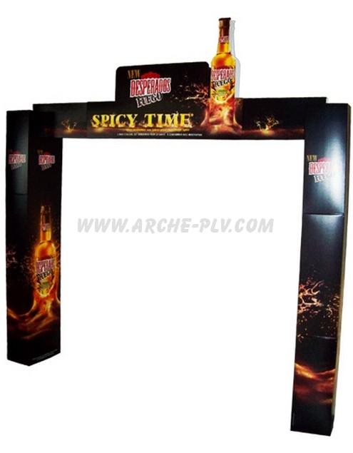 marketing - arche carton avec colonne carrées et fronton décoré
